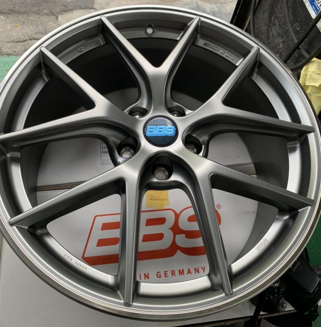 全新鋁圈 正品 BBS CIR CI-R 旋壓鑄造 輕量化 德國製 19吋 5孔114.3 灰色 (現貨) 特斯拉...