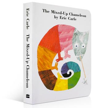 英語原版繪本啟蒙 Eric Carle The Mixed-Up Chameleon Board Book 拼拼湊湊的變
