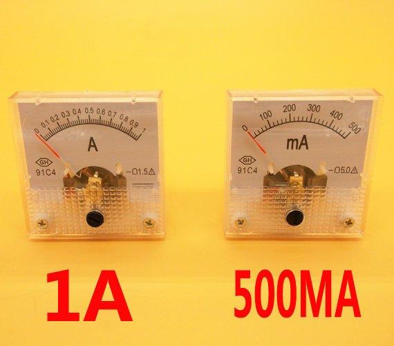 測試維修手機 機械表頭 模擬直流指標電流 91C4型1A表頭 W84 [59643]