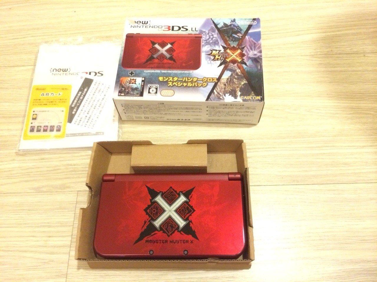 N3DS NEW 3DSLL 魔物獵人X 特仕機 獵人X 限定主機 同捆機 售8500