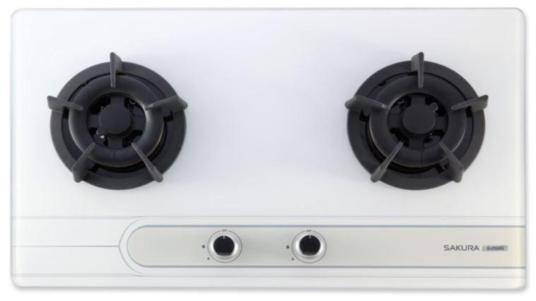《日成》櫻花-二口.小面板.易清玻璃檯面爐 (G2522GW) 白玻