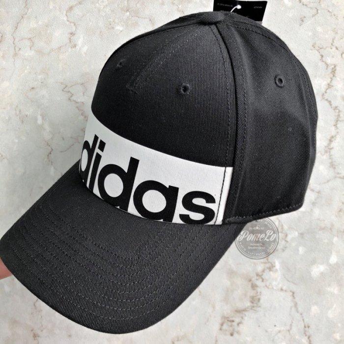 POMELO柚 Adidas 5pcl Logo Cap Linear 黑色 老帽可調 大Logo 款 S98157