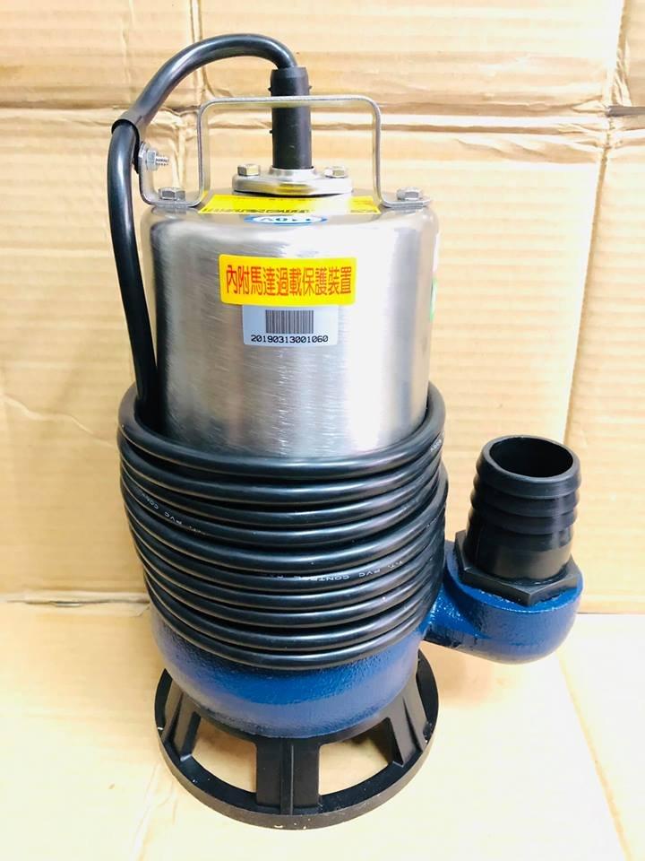 台製全新 1HP 三相 2英吋 沉水馬達 污水幫浦 抽水機 污物泵浦 水龜 抽水馬達 抽水泵浦 沉水馬達 (台灣製造)