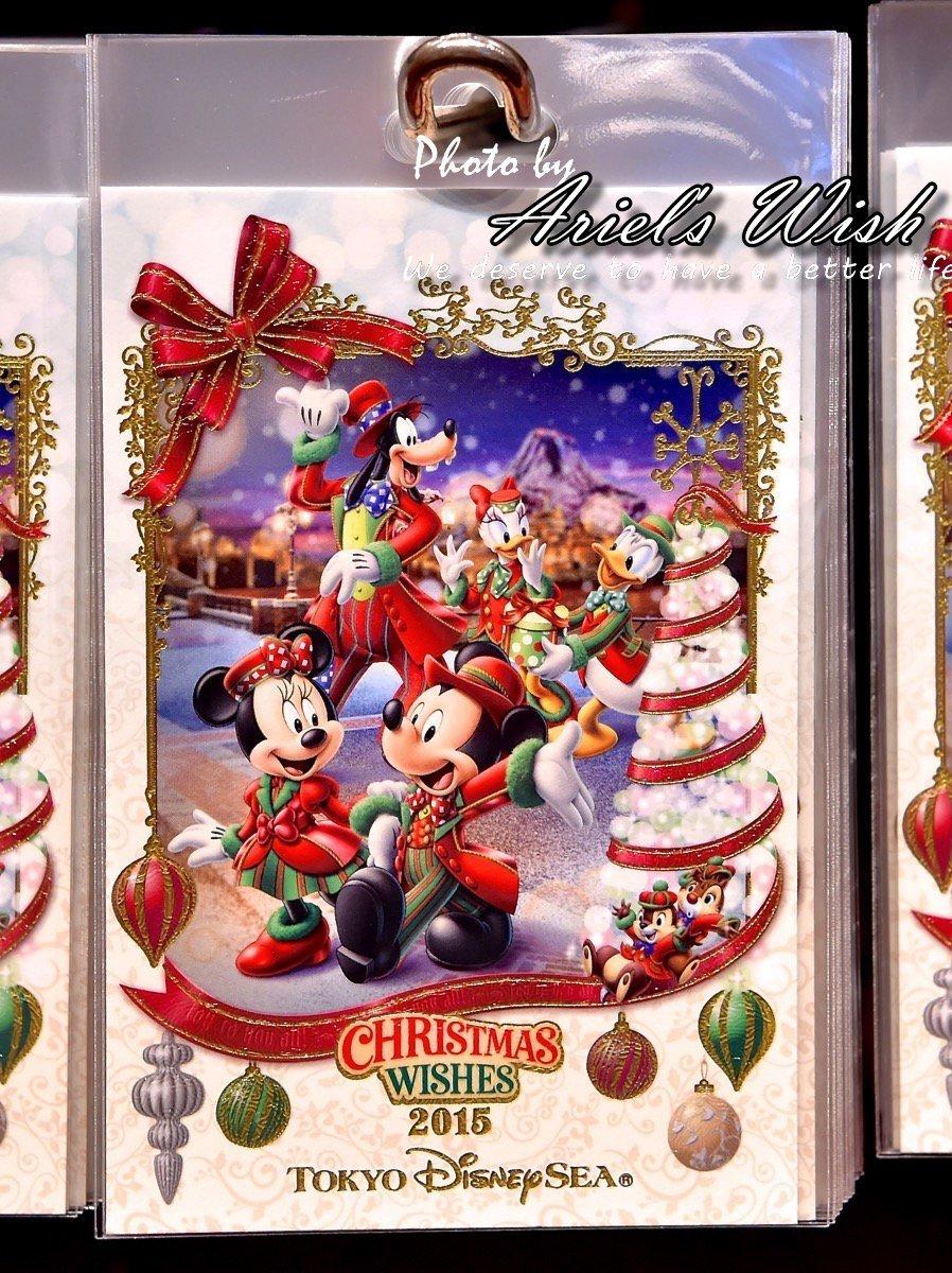Ariel #x27 s Wish- Tokyo東京Disney迪士尼紅色聖誕節米奇米妮耶誕禮服 明信片卡片留言板-絕版1
