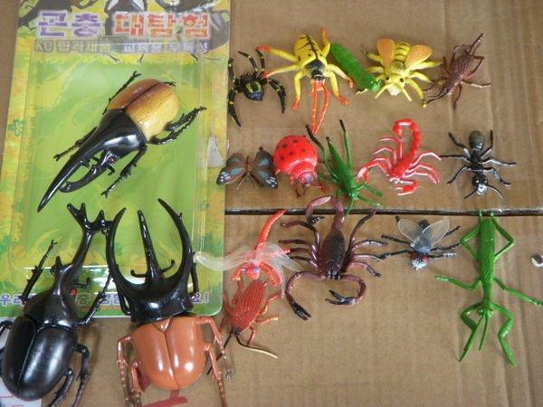 小猴子玩具鋪~ ST安全玩具~大自然仿真甲蟲 昆蟲18件套裝組~~ :100元 組