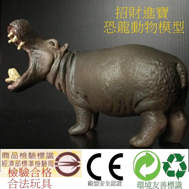 河馬 仿真動物玩具 模型玩具 野生動物園公仔收藏品 ZOO 兒童生日 售大象斑馬熊貓獅子企鵝羚羊北極熊恐龍AM05