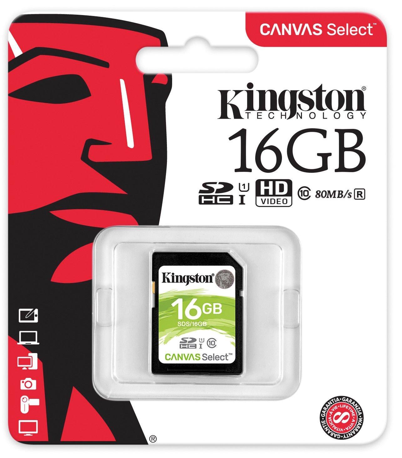 『儲存 』金士頓 Kingston 16GB 16G SDHC U1 記憶卡 SDS