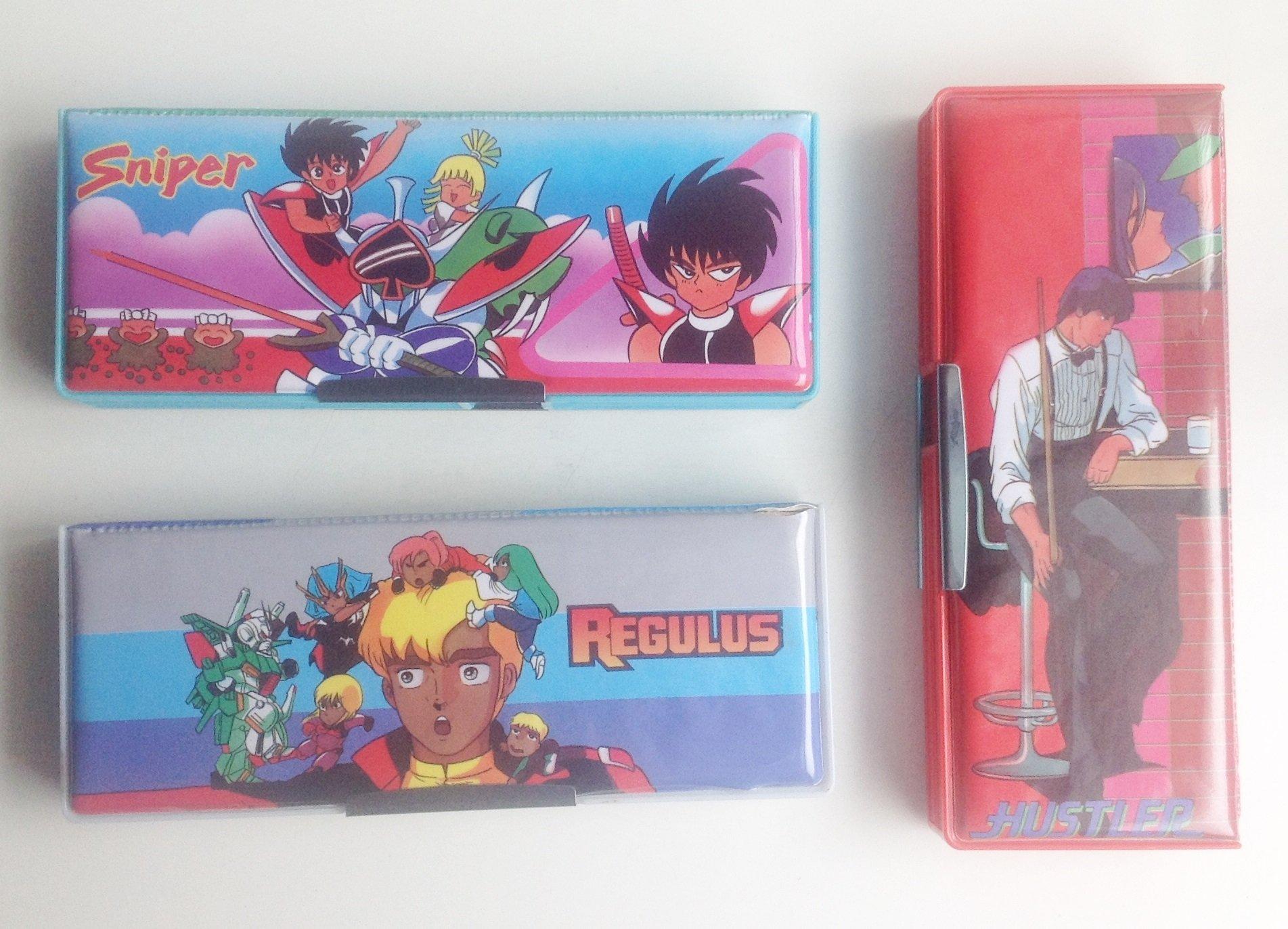 《**童趣** 》城市獵人、魔動王、鋼彈 知名動漫 磁吸式鉛筆盒 ~ 懷舊收藏