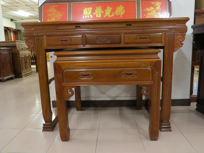 光南家具-黃金柚木5.1尺明式神桌