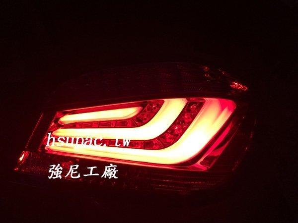 ☆☆☆強尼工廠☆☆☆全新 BMW E60 04-11年 紅黑 LED尾燈 光柱 光條 F10樣式