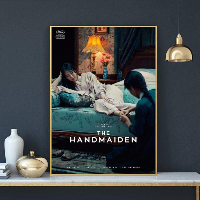 X 設 計 下女的誘惑Handmaiden女同電影海報封面掛畫實韓國同志電影裝飾掛畫版畫玄關畫空間設計裝飾畫(2款可選)