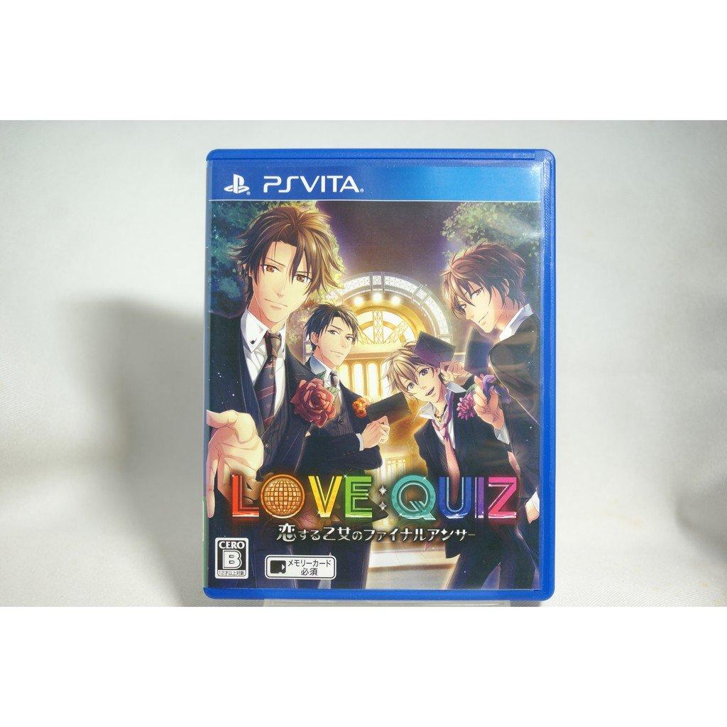[耀西]二手 純日版 SONY PSV LOVE:QUIZ~戀愛少女的最終答案~ 含稅附發票