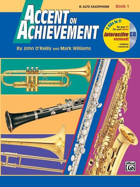 【599免運費】Accent on Achievement, Book 1【E-flat中音薩克斯風】 AP.17087