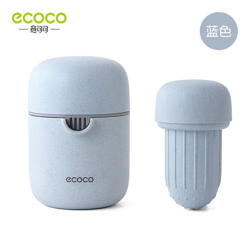 ECOCO 手動榨汁機 榨汁機 果汁機 隨身果汁杯 簡易 榨汁 多 藍色