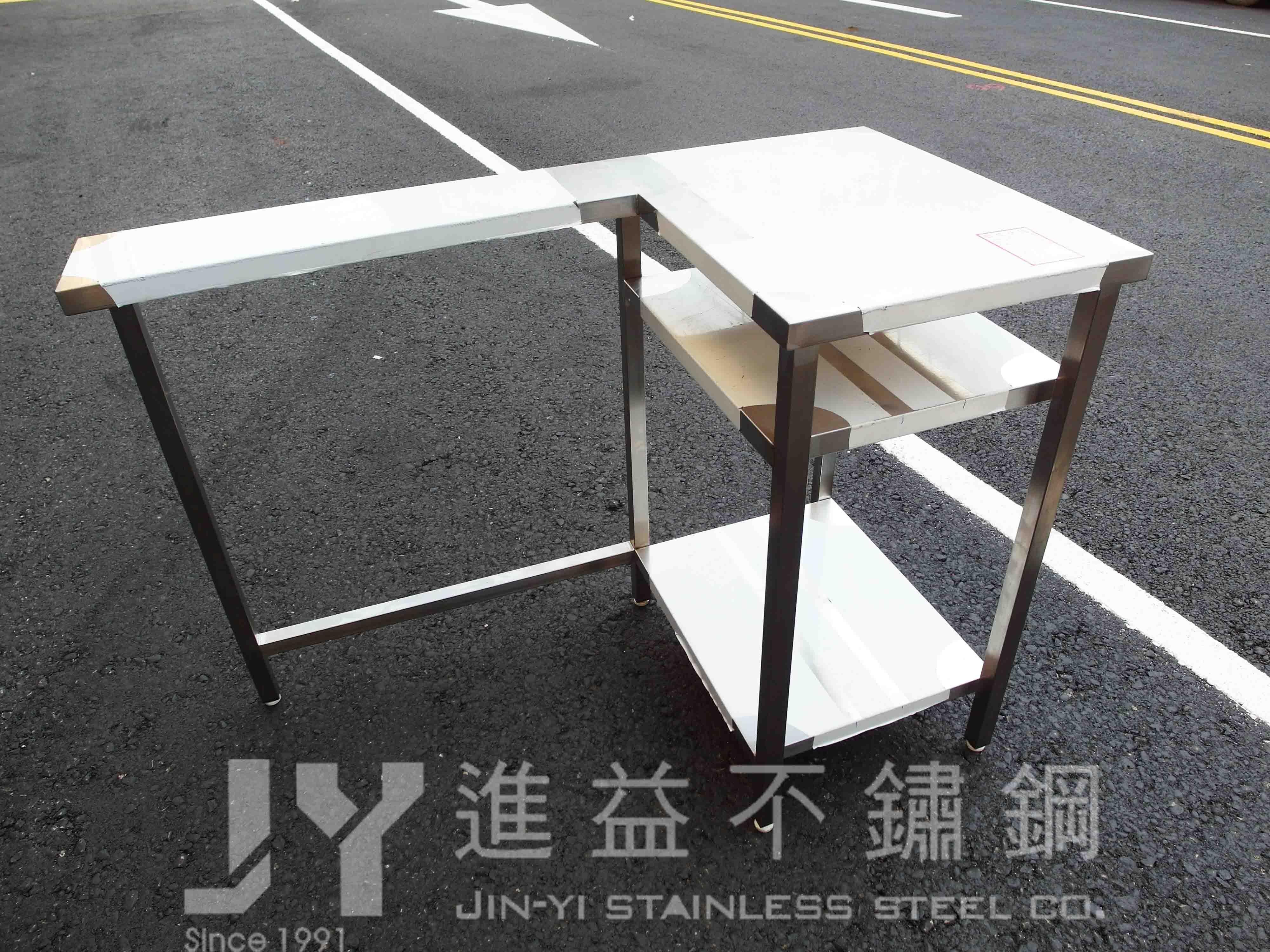 【進益不鏽鋼】L型工作台 冰箱工作台 工作桌崁入冰箱 工作桌 無塵室桌 醫院桌 不鏽鋼訂製 客製化不鏽鋼桌 訂製工作台