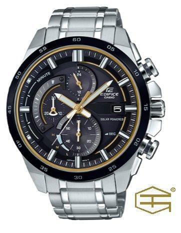 【天龜】CASIO EDIFICE 時尚經典   太陽能三眼計時賽車錶   EQS-600DB-1A9