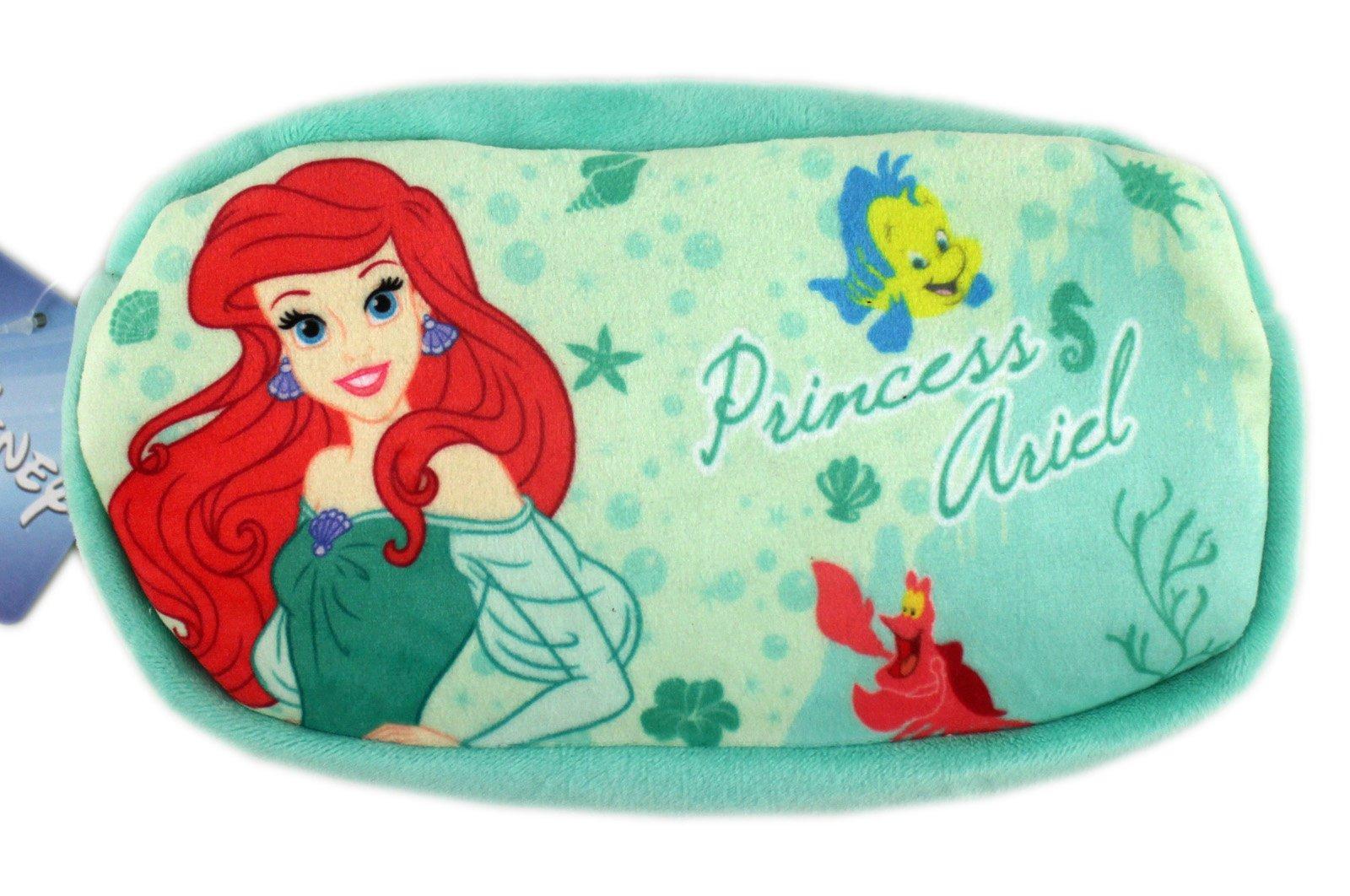 【卡漫迷】 小美人魚 絨毛 筆袋 ㊣版 比目魚 萬用袋 鉛筆袋 化妝包 收納 鉛筆盒 愛麗兒 Ariel Mermaid