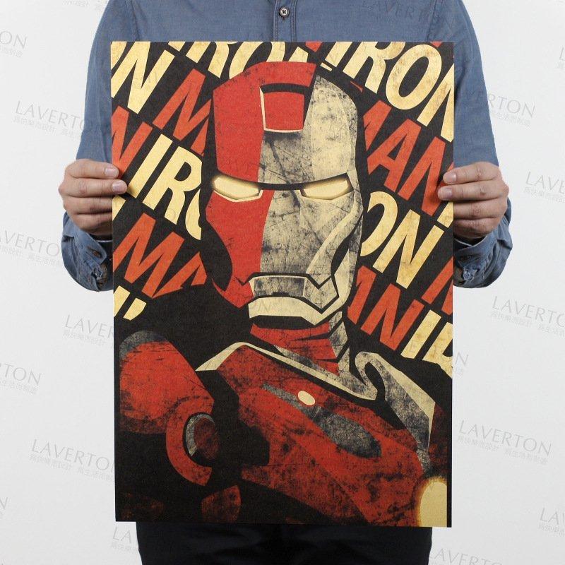 【貼貼屋】鋼鐵人 IRON MAN 超級英雄 MARVEL 牛皮紙 海報 壁貼 店面裝飾  電影海報 547