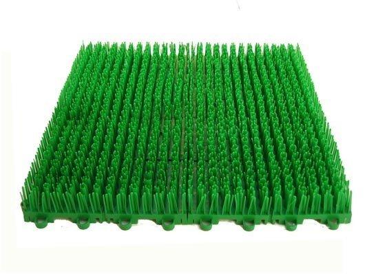 人工草皮拼裝式組合草皮拼接草皮DIY人造草門墊 拼裝草DIY組合塑膠草 假草 短草 止滑板防滑板排水板