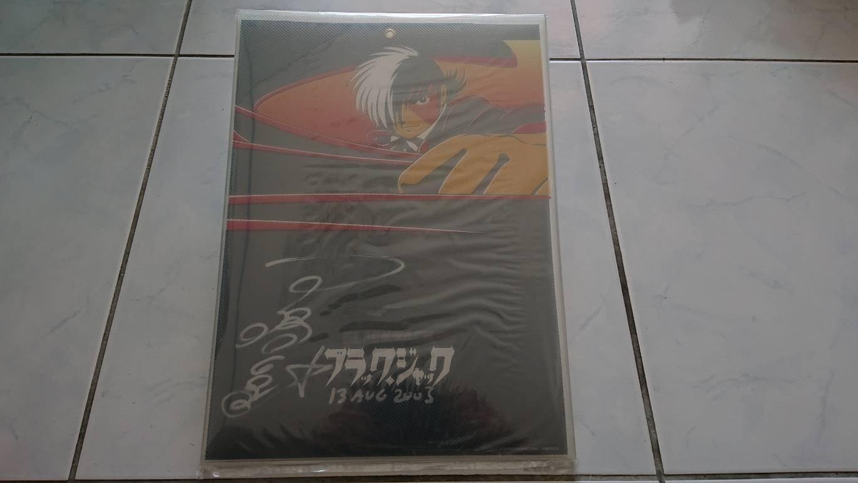 BLACK JACK 怪醫黑傑克 卡通版動畫   手塚真  親筆簽名板