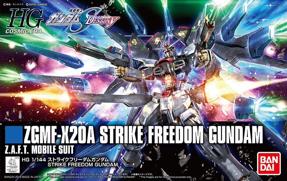 HG 1/144 Seed Destiny 攻擊自由鋼彈 Strike Freedom Gundam 組合 組裝 模型