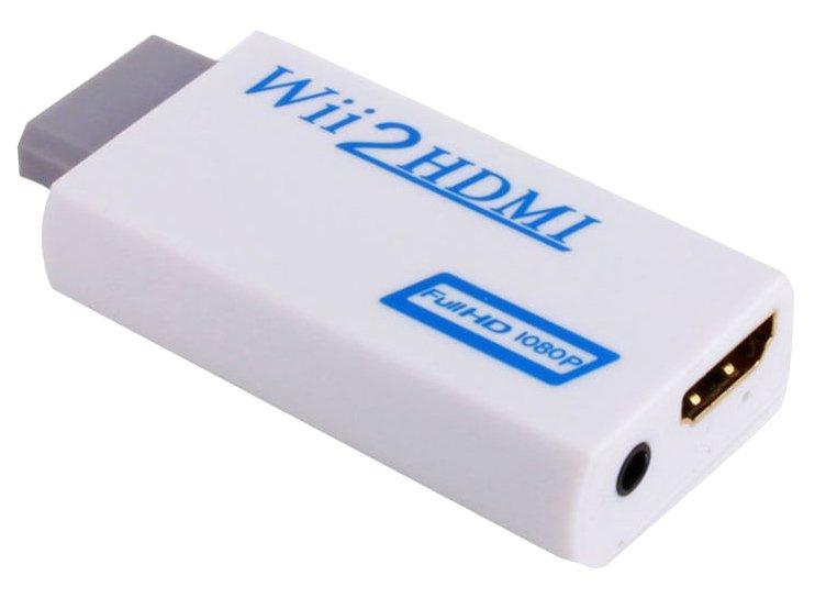 帶音源 Wii 轉 HDMI線 WII TO HDMI 轉換器 轉換盒 影像線 替代掉AV線(全新商品)【台中大眾電玩】