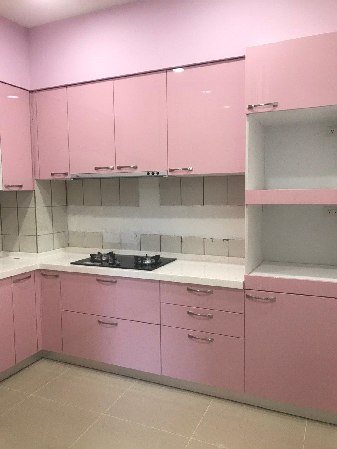 【雅格廚櫃】工廠直營~一字型廚櫃、流理台、廚具、結晶鋼烤、含櫻花三機