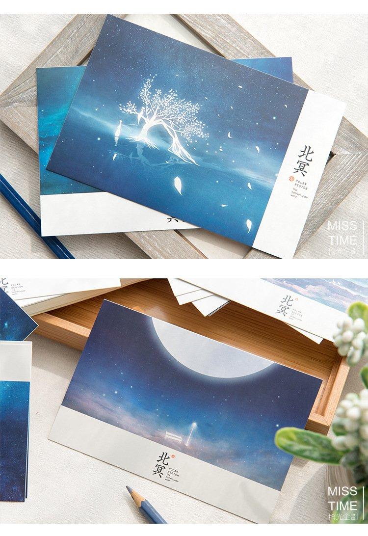 《品味私藏》拾光 北冥 夜光盒裝明信片 30張入文青文藝送禮賀卡卡片