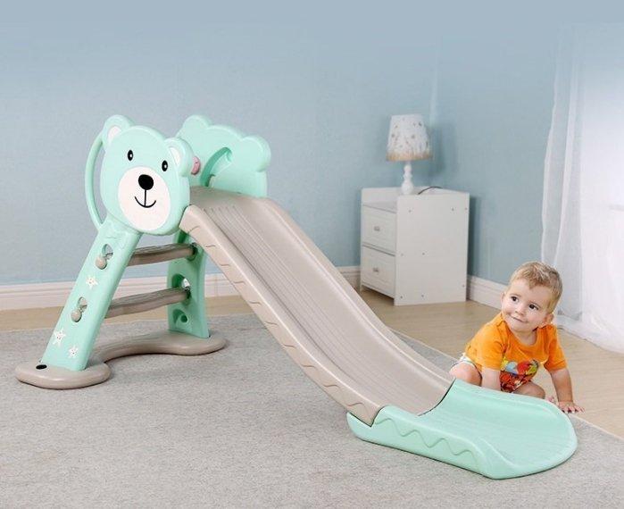 童心玩具豪華萌萌熊加長溜滑梯~滑道特長 款~底座可加重 ~穩固安全~