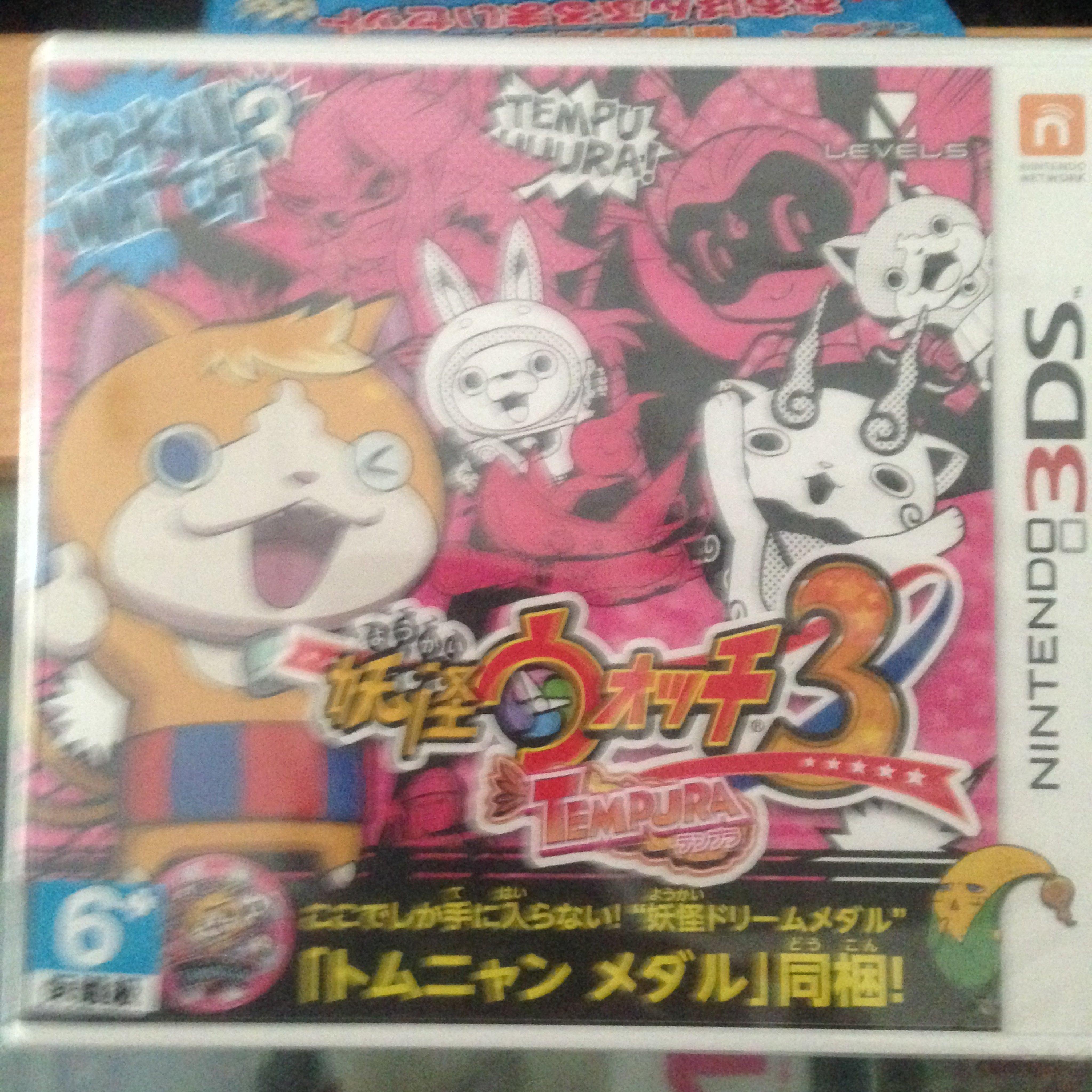 毛毛的窩3DS 妖怪手錶3 :天婦羅 (日本版)附特典~保証全新未拆~