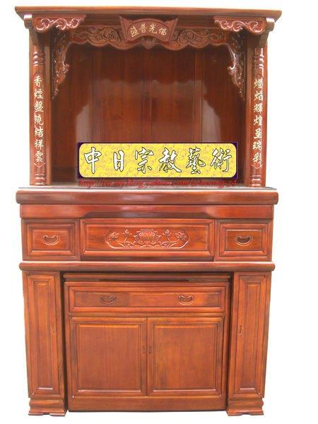 樟木實木神櫥佛櫥5尺1寬~神桌佛桌祖先桌神櫥佛櫥神像佛像佛聯神明彩聯對設計製作