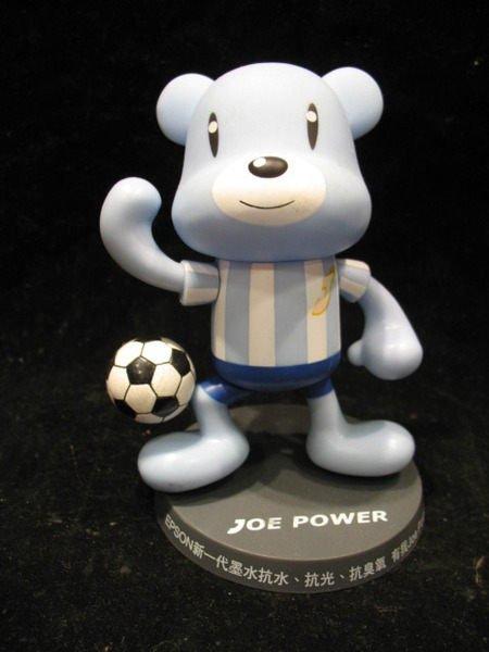 EPSON 第一代 - JOE POWER 足球熊公仔 - 13公分高 - 網路少有品 - 251元起標