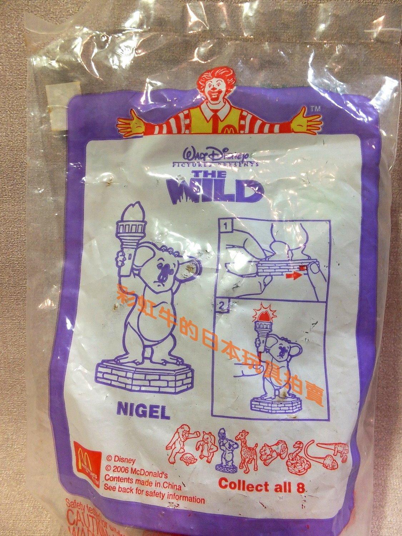 絕版收藏 麥當勞 兒童餐 玩具 迪士尼 電影 動畫 野蠻任務 The Wild 尼啾 無尾熊 公仔玩具
