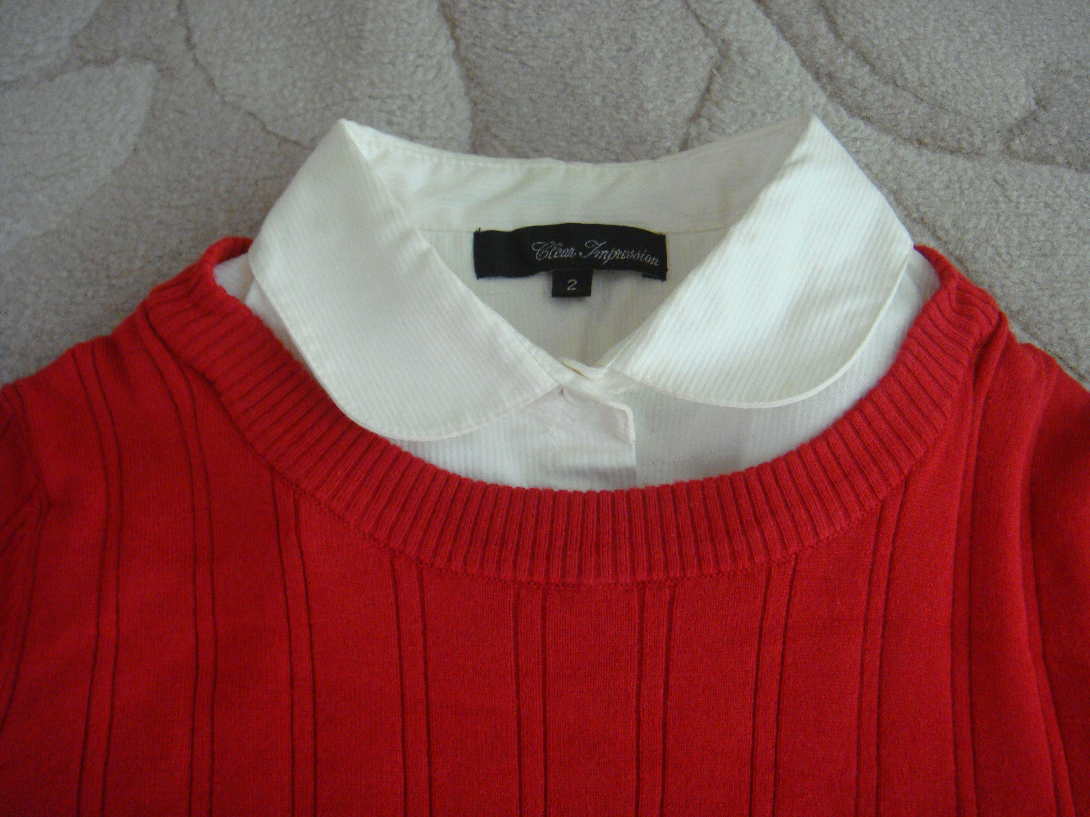 日本品牌clear impression紅色白領美衣 〈2〉 竇騰璜 張李玉菁 gracy 組曲 23 區 可參考