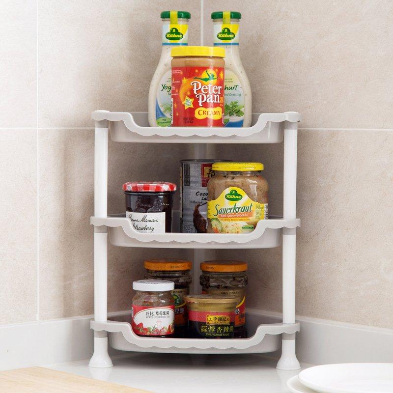 居家 簡約   超實惠 塑料多層整理架廚房臺面置物架浴室落地化妝品收納架儲物架