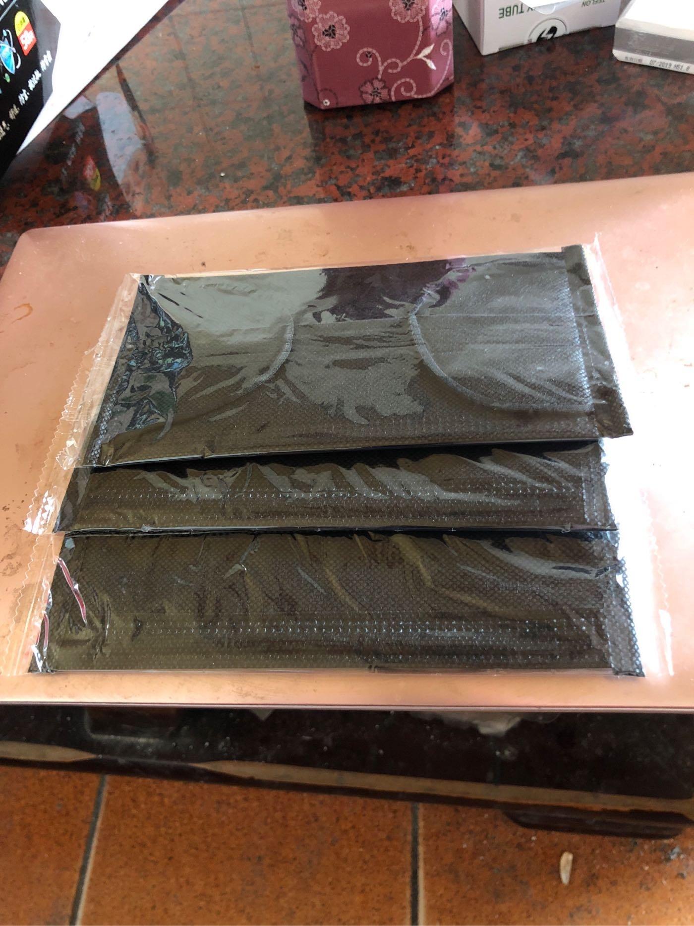 黑色四層活性碳口罩厚款獨立包裝一盒50片100元