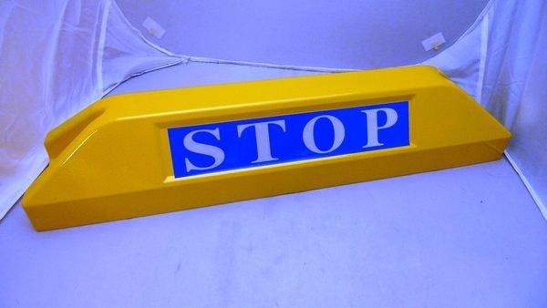 附發票 *東北五金*台製 鋁合金材質 車輪擋 / 車輪檔 / 擋輪器 / 檔輪器 / 停車場 / 停車格 (黃色)