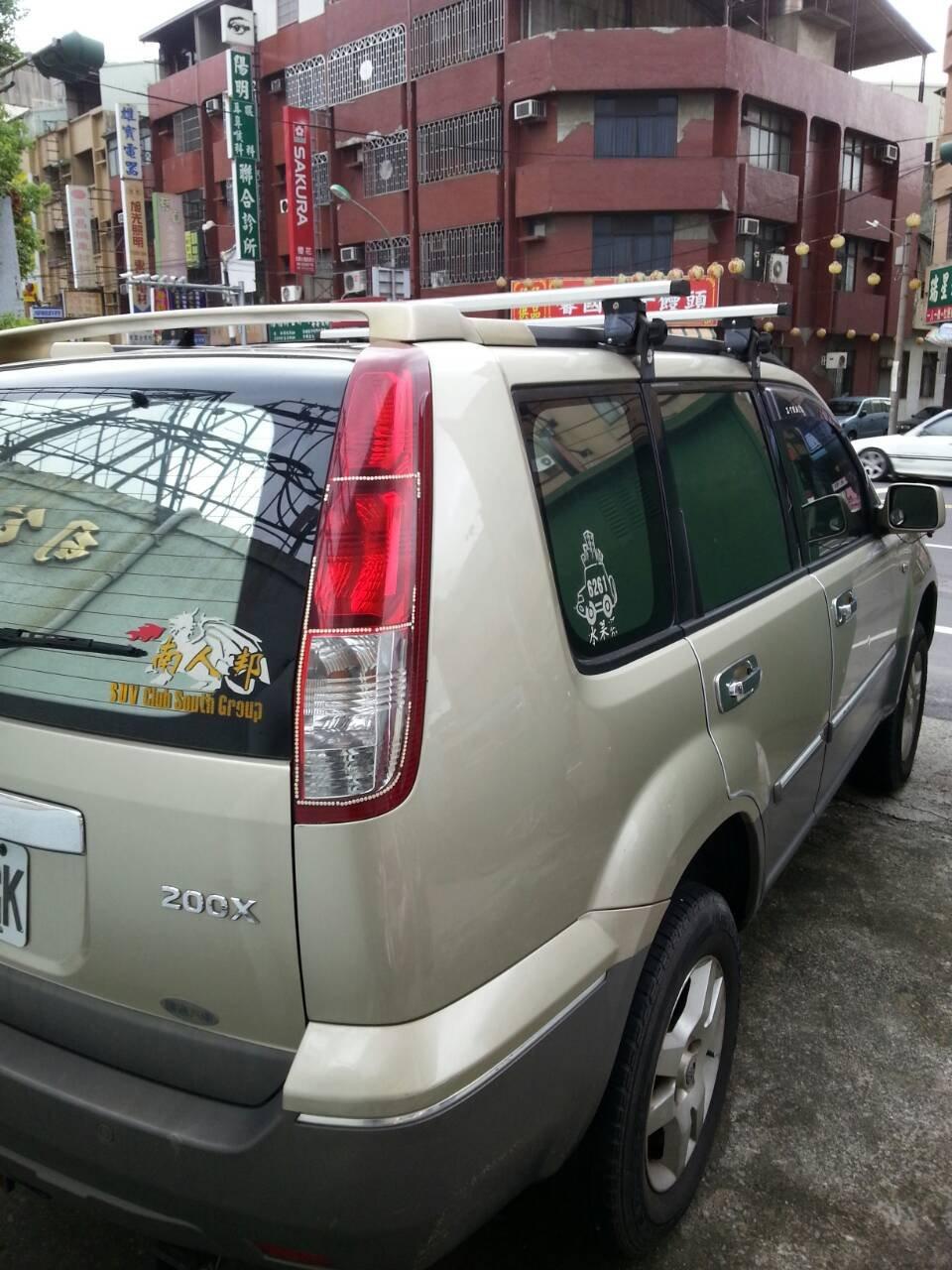 (小鳥的店)日產 X-TRAIL 快克 橫桿 車頂架 行李架附認證 TIIDA LIVINA