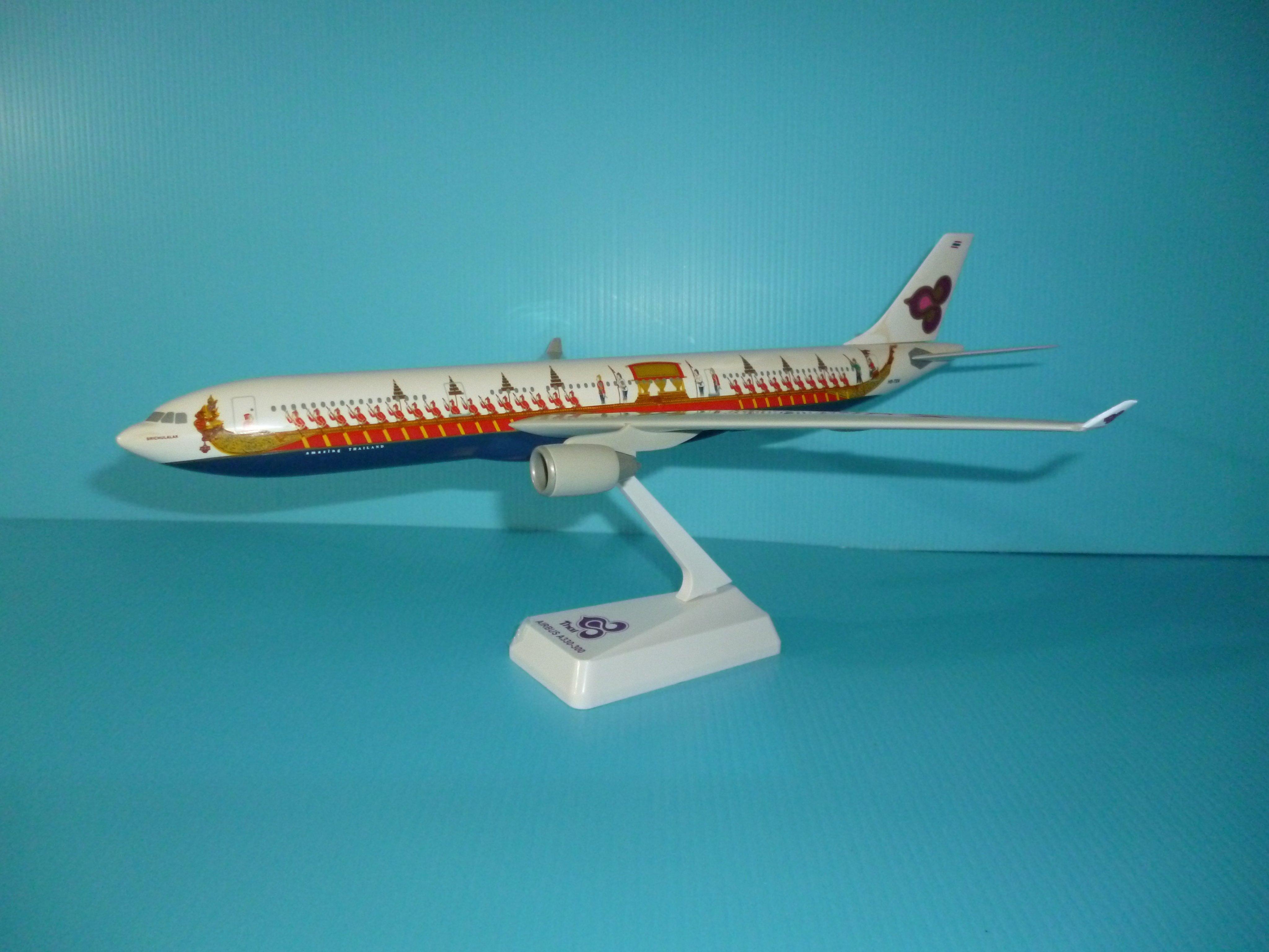 珍上飛模型飛機 : 空中巴士A330-300 (1:200)Thai泰國(彩繪龍舟)(編號:A330A31)