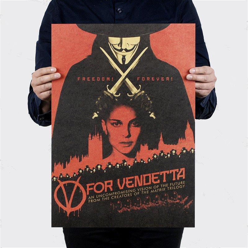 【貼貼屋】V怪客 牛皮紙 海報 壁貼 經典款 電影海報 懷舊復古 976