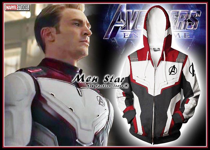 【Men Star】免 復仇者聯盟4 終局之戰 隊服 彈力 外套 連帽外套 戰衣 制服 團體服 媲美 stage