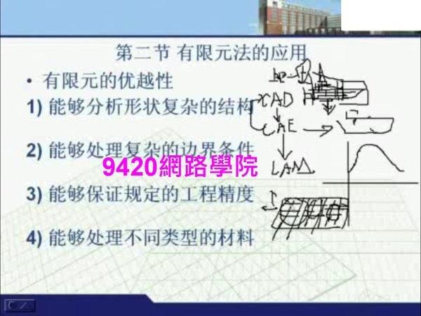 【9420-1704】有限元分析 教學影片 - ( 27 堂課 上海交通大學 )  420 元 !