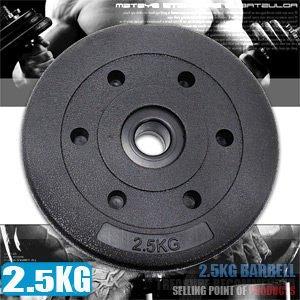 【推薦+】2.5KG水泥槓片(單片2.5公斤槓片.啞鈴片槓鈴片.舉重量訓練.運動健身器材)C113-B2025