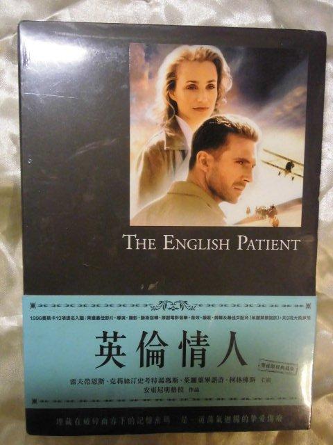 全新 The English Patient 英倫情人 雙碟版 雷夫范恩斯 克莉絲汀史考特湯瑪斯 茱麗葉畢諾許 柯林佛斯