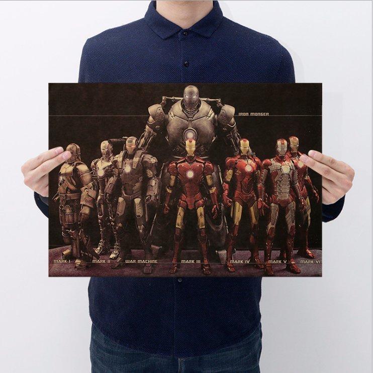 【貼貼屋】鋼鐵人 IRON MAN 超帥大集合 超級英雄 好萊塢 電影 懷舊復古 牛皮紙 海報 壁貼275