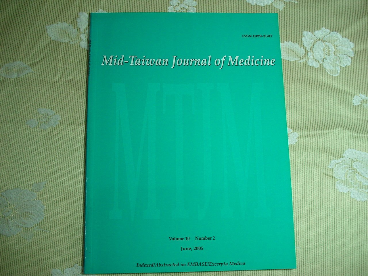 中 醫學科學雜誌 2005年6月《過敏對 性鼻竇內視鏡手術預後的影響》書況為實品拍攝,無標記,如新如圖【A1.71】