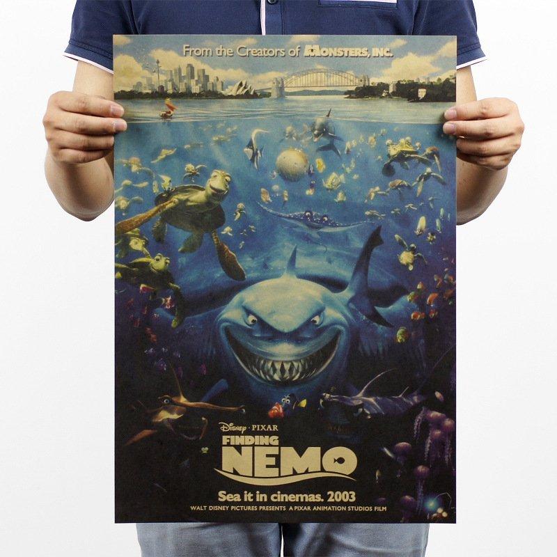 【貼貼屋】海底總動員 NEMO 尼莫 迪士尼 牛皮紙 海報 壁貼 電影海報 懷舊復古 543