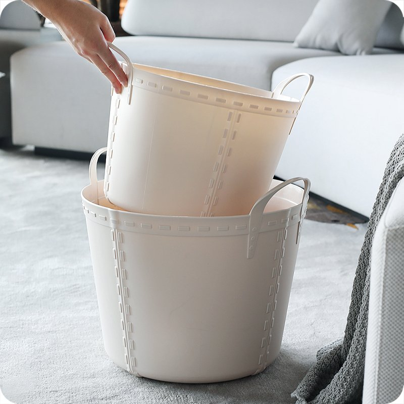 優品 收納 晾曬 整理 日系 大號塑料臟衣籃 浴室洗衣籃家用玩具收納籃臟衣服收納筐