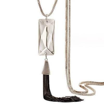 奧地利水晶項鍊 毛衣鍊~復古長形流蘇 女飾品73fv140    巴黎