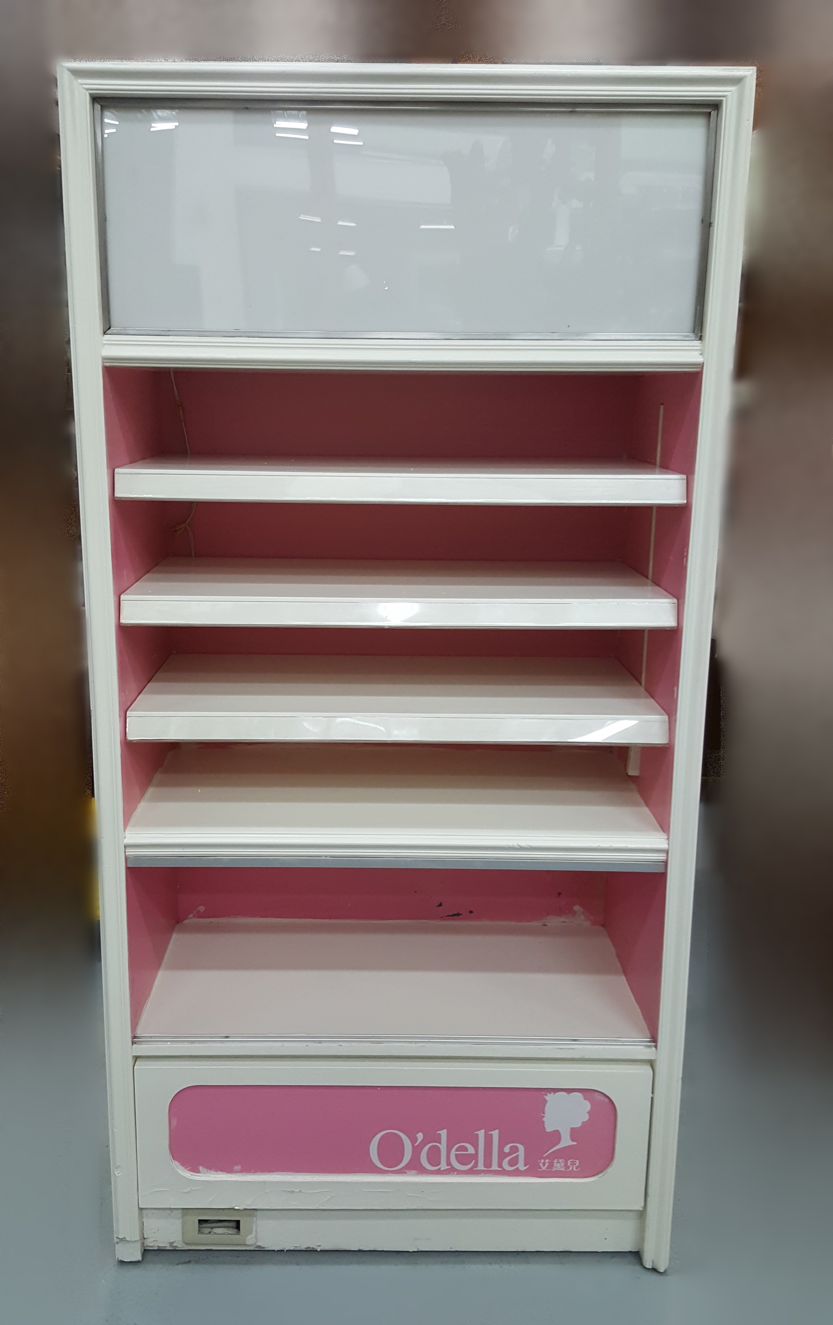 台中宏品二手家具 中古傢俱賣場 D73106*白粉展示櫃 展示架 櫃檯 收銀台*便宜家二手家具拍賣 冷氣空調 冰箱電視